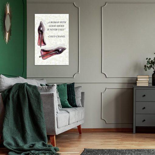 Obraz z cytatem do salonu