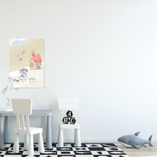 Obraz dziecięcy - Mysz z balonem