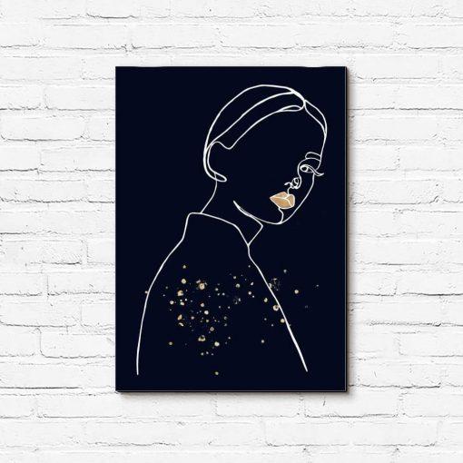Obraz- Spoglądająca kobieta