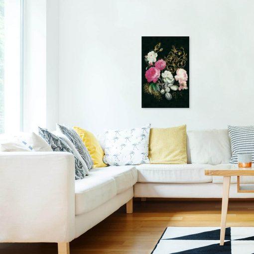 Obraz pęk kwiatów na ścianę w sypialni