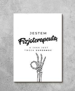 Obraz z typografią dla fizjoterapeuty