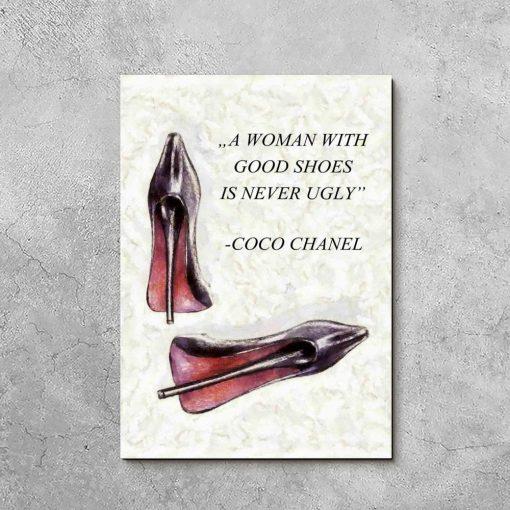 Obraz z cytatem Coco Chanel