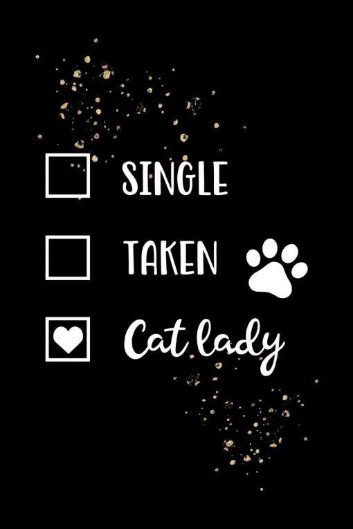 Obraz z napisem - Cat lady