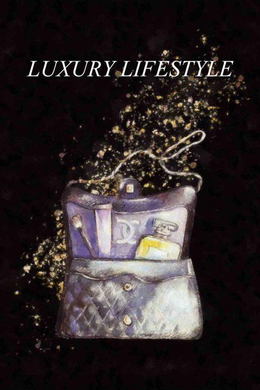 Obraz z napisem - Luxury lifestyle