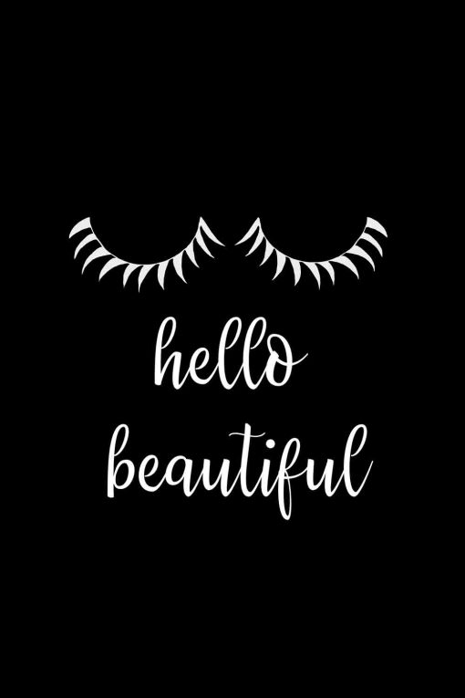 Obraz z napisem - Hello beautiful