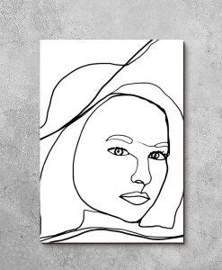 Artystyczny obraz z kobietą do pokoju