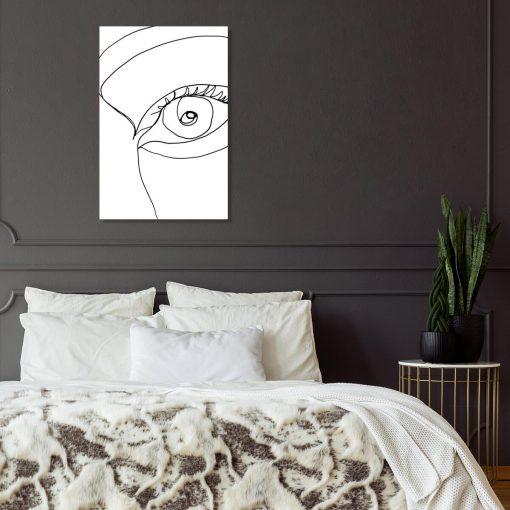 Obraz z okiem do sypialni