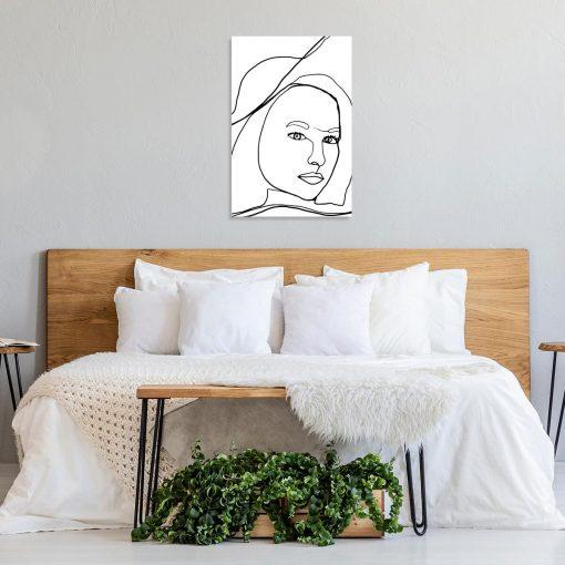 Artystyczny obraz z kobietą do sypialni