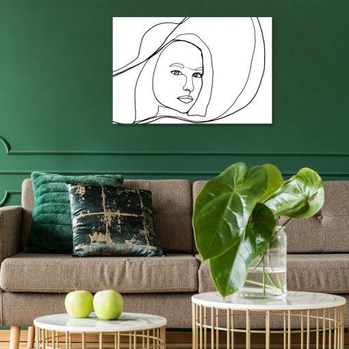 Obraz - Line art do salonu
