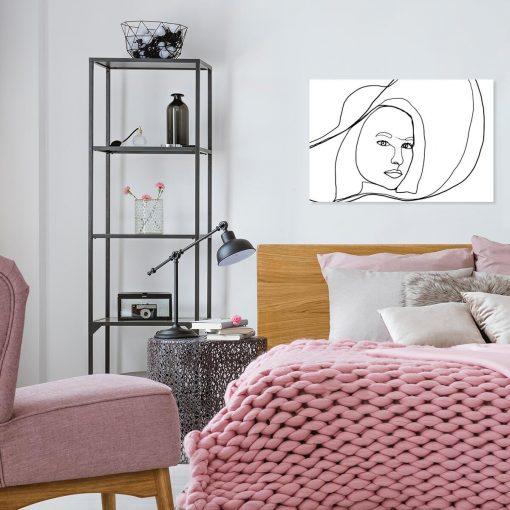 Obraz - Line art na ścianę do sypialni