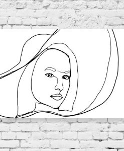 Obraz - Line art do pokoju
