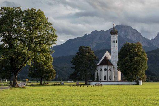 Obraz z kościołem w Schwangau