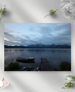Obraz z jeziorem na tle gór do pokoju