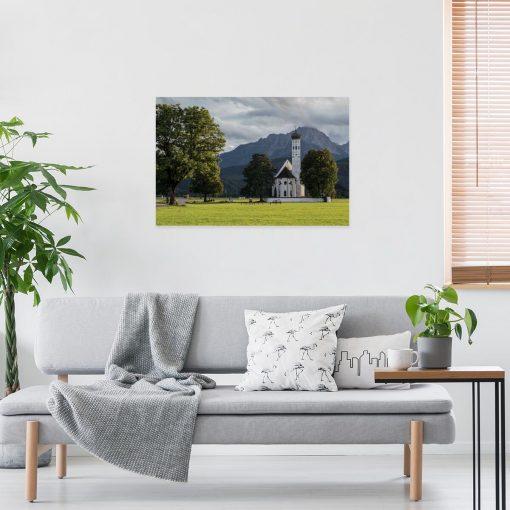 Obraz z kościołem w Schwangau do salonu