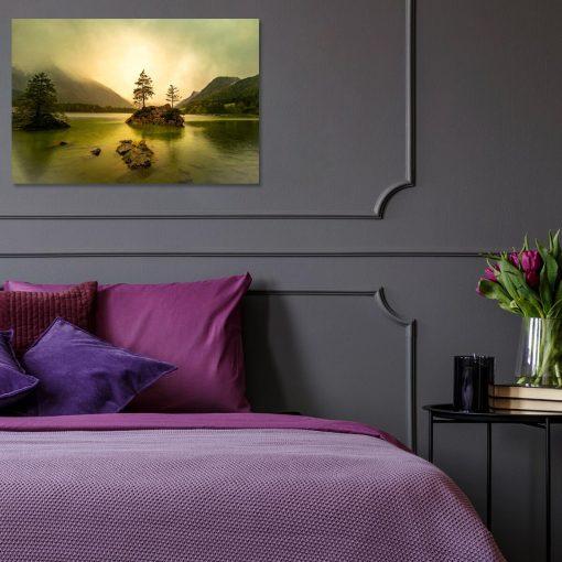 Obraz z jeziorem Untreusee do sypialni