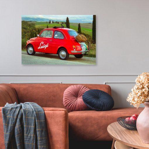 Obraz do salonu - Czerwone auto