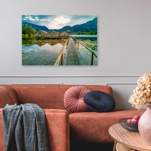 Obraz z jeziorem Kochelsee do salonu