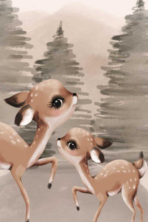 Obraz dla dziecka z sarenkami
