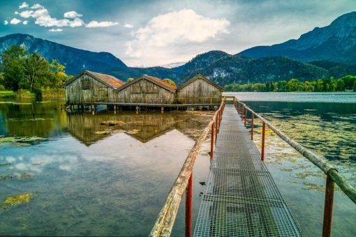 Obraz z jeziorem Kochelsee