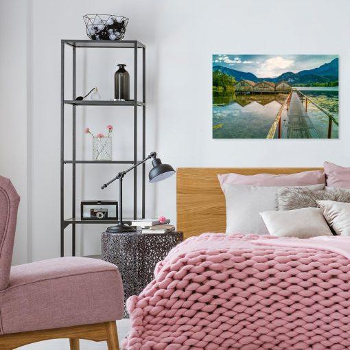 Obraz z jeziorem Kochelsee do sypialni