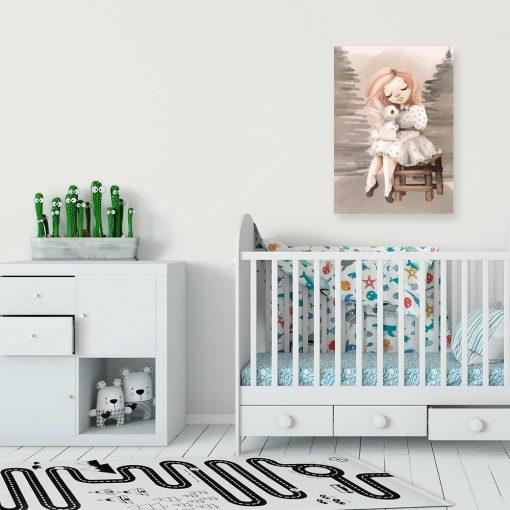 Obraz dla dziewczynki z motywem króliczka