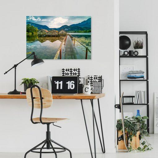 Obraz z jeziorem Kochelsee do biura podróży