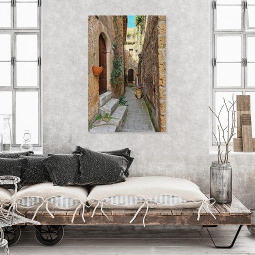Obraz do gabinetu z ustronną uliczką