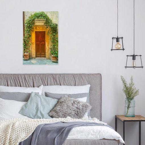 Kolorowy obraz do sklepu z motywem drzwi