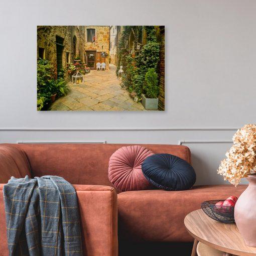 Obraz do przedpokoju z renesansową uliczką