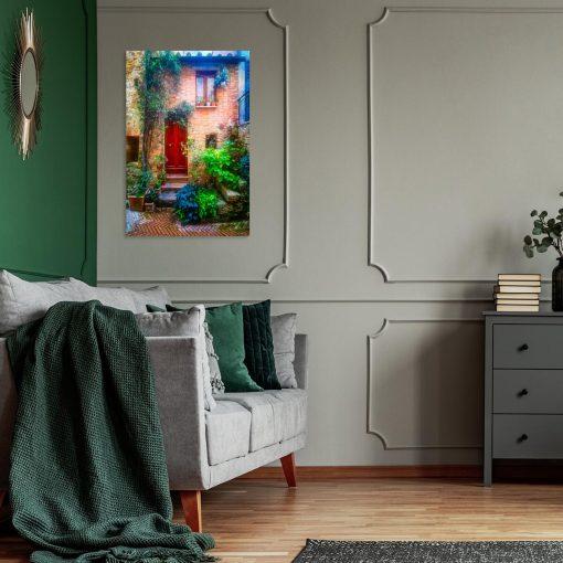 Obraz kolorowe domostwo