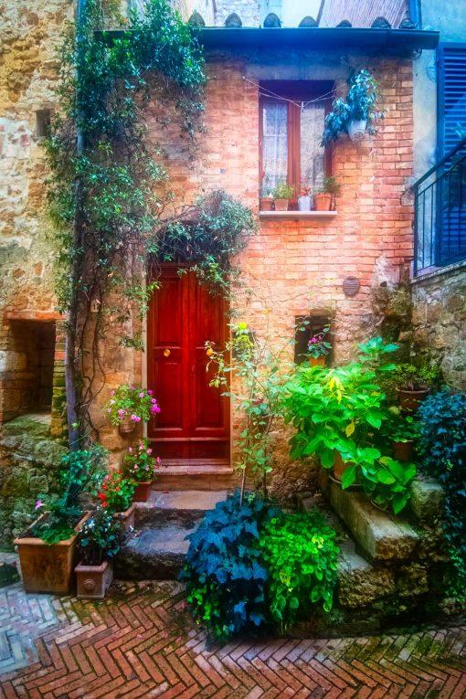 Obraz wąskie toskańskie uliczki