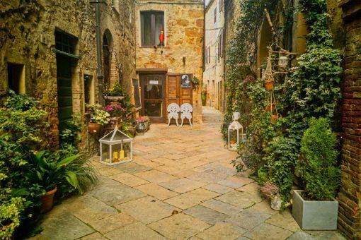Obraz z miasteczkiem Pienza w Toskanii