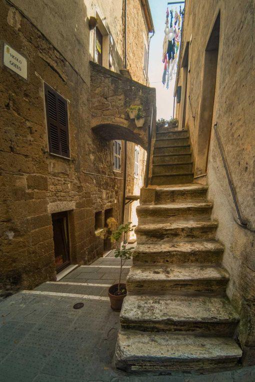 Obraz wąskie uliczki w Toskanii