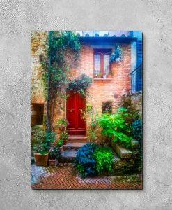 Obraz z uliczką w Toskanii