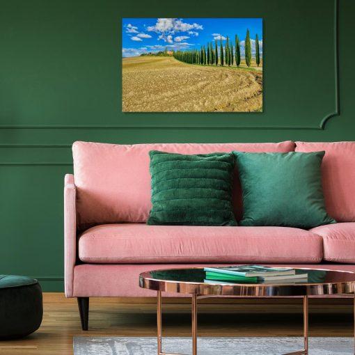 Obraz z motywem Poggio Covili i widokiem na aleję cyprysów