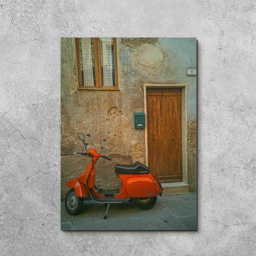 Obraz do salonu z włoskim jednośladem