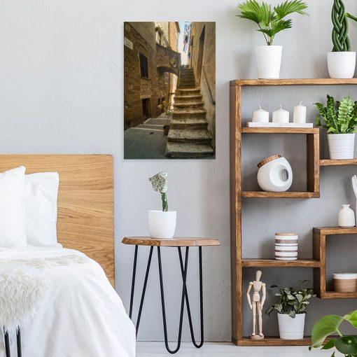 Obraz do biura z zaułkiem w Toskanii