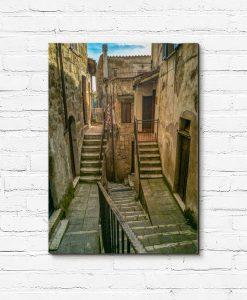 Dekoracja z uliczką we Włoszech.