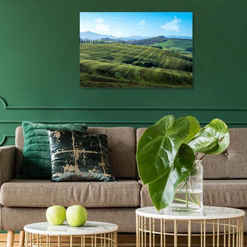 Zielone łąki - Obraz do przedpokoju