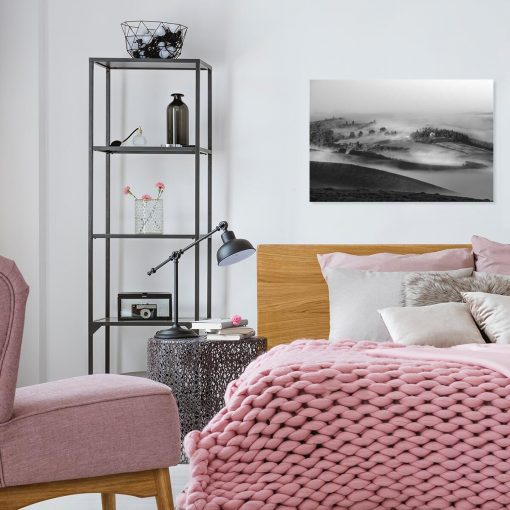 Obraz do sypialni z górskim widokiem