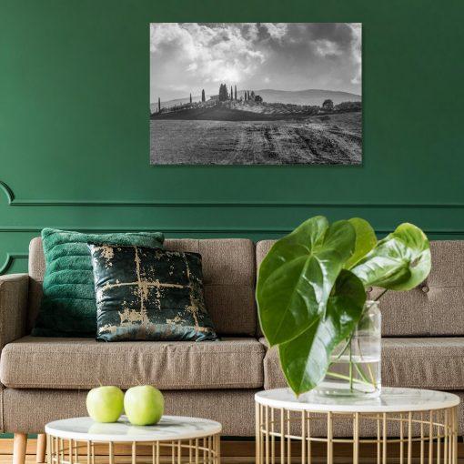 Obraz z winnicą na wzgórzu