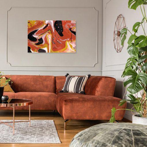 Pomarańczowy obraz do salonu