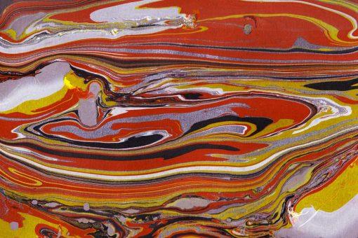 Obraz z motywem pomarańczowych fal w ciepłej tonacji