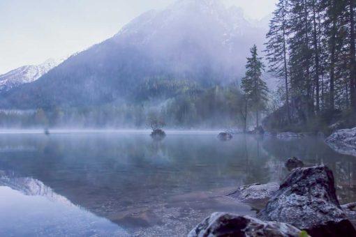 Obraz górskie jezioro