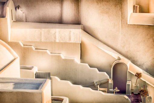 Obraz z budowlą na greckiej wyspie - Santorini do pokoju