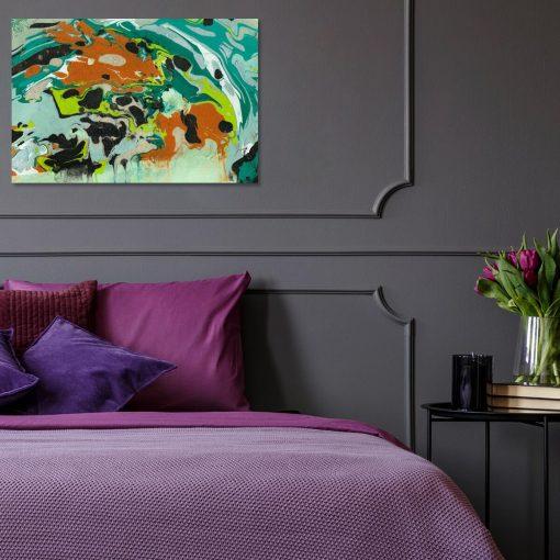 Współczesny obraz z eksplozją kolorów do dekoracji salonu