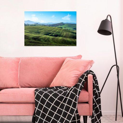 Zielone łąki - Obraz do sypialni