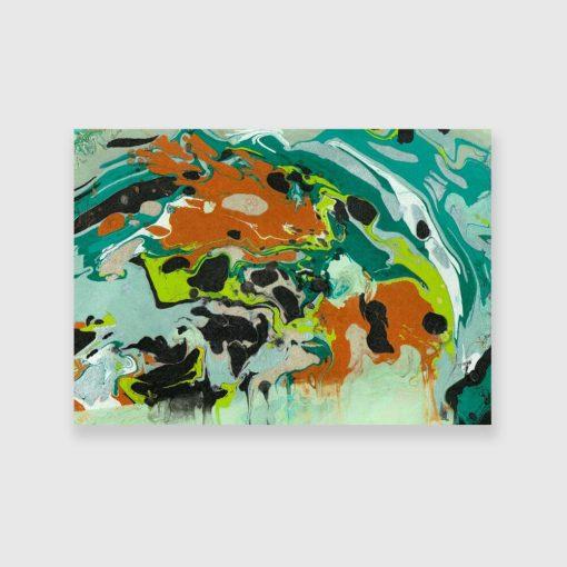 Reprodukcja obrazu z turkusową abstrakcją
