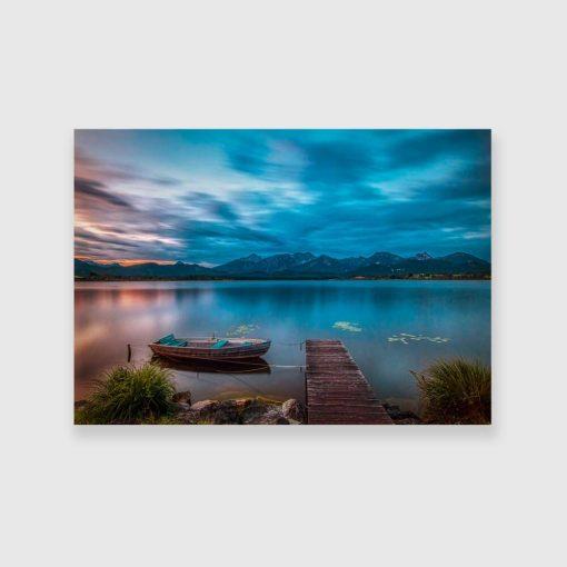 Obraz chmury nad jeziorem