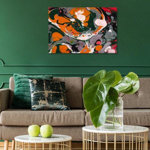Obraz do kawiarni z abstrakcyjnymi tworami